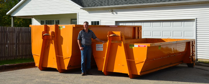 10 and 20 yard dumpsters sizes from Grand Rapids Dumpster Rental