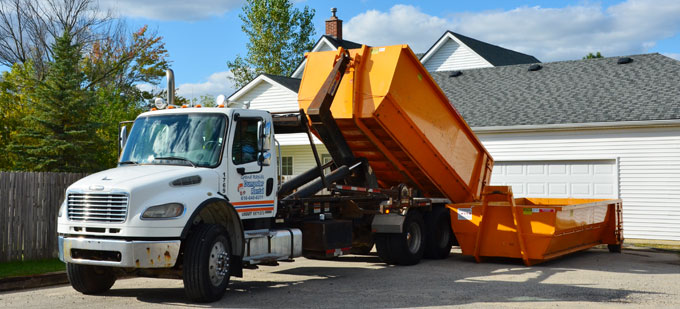 Roll-off container sizes from Grand Rapids Dumpster Rental