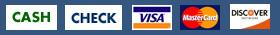 Payment types for grandrapidsdumpsterrental.com - cash, check, visa, mastercard, discover