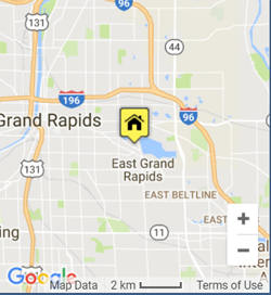 Google location map for Grand Rapids Dumpster Rental